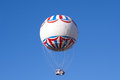 White balloon, blue sky Royalty Free Stock Photo