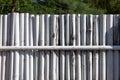 White bamboo fence Royalty Free Stock Photo
