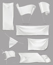 White banners and flags Royalty Free Stock Photo