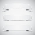 White banners and ribbons Royalty Free Stock Photography