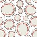 White Baseball Ball Seamless Pattern Royalty Free Stock Photo