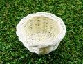 White basket Royalty Free Stock Photo