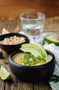 White bean chicken chili Royalty Free Stock Photo