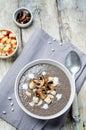 White bean mushrooms soup Royalty Free Stock Photo