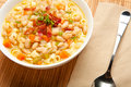 White Bean and Pasta Soup Stock Photography