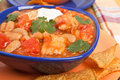 White bean turkey chili Royalty Free Stock Photos