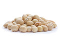 White beans closeup isolated background Royalty Free Stock Photos