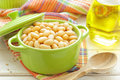 White beans in a pot Stock Image
