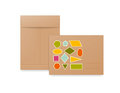 White, beige and brown paper envelopes. Realistic mockup for letter or invitation cards