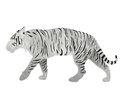 White bengal tiger from recycled paper isolated on white illustrator of Royalty Free Stock Images
