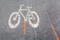 White bicycle sign path Royalty Free Stock Photo