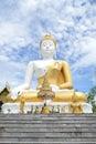 White big buddha statue in chiang mai thailand Royalty Free Stock Photo