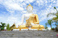 White big buddha statue in chiang mai thailand Stock Images