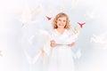 White birds Imágenes de archivo libres de regalías