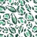 White, Black, Green Leopard Sk...