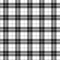 White and Black Plaid Fabric Background Royalty Free Stock Photos