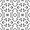 White and black seamless pattern Stock Images