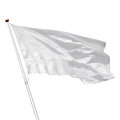 White blank flag on white background