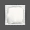 White Blank Foil Pouch Packaging For Medicine Drugs , Coffee, Salt, Sugar, Pepper, Spices, Sachet, Sweets Or Condom. Mock