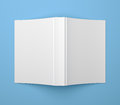 White blank soft cover book template on blue Royalty Free Stock Photo
