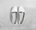 White blank women shoes mockup stand , clipping path.