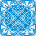 White and blue abstract decoration Stock Images