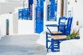 White-blue Architecture On San...