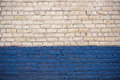 White and blue brick wall Royalty Free Stock Photo