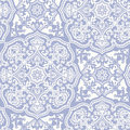 White blue Moroccan ornament Royalty Free Stock Photo