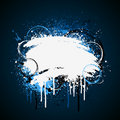 White and blue paint splatter Stock Photo