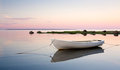 White boat in water Royalty Free Stock Photo