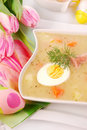 White borscht for easter Stock Photos