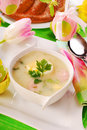 White borscht for  easter Royalty Free Stock Images