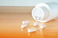 White bottle of pills Royalty Free Stock Photo