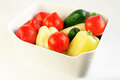 White bowl with fresh vegetables Royalty Free Stock Photo