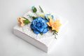 White box with flowers Stock Photography
