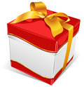 White box with gold tape Royalty Free Stock Image