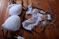 White bra and panties Royalty Free Stock Photo