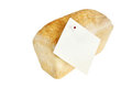 White bread loaf with sticker Stock Image