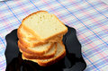 White bread sliced ​​white on a plate Stock Image
