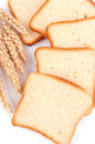 White bread and wheat Royalty Free Stock Photos