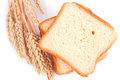 White bread and wheat Royalty Free Stock Photo