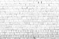White brick wall background grunge Stock Photography