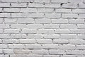 White brick wall painted Stock Photo