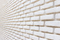 White brick on wall perspective background Royalty Free Stock Photo