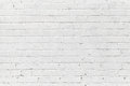 White brick wall seamless photo texture background Stock Images