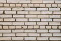 White brickwork masonry of old brick Royalty Free Stock Photos