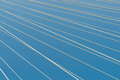 White bridge cable stays in diagonal pattern across blue backgro Royalty Free Stock Photo