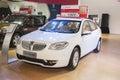 White brilliance h car new in the th zhengzhou dahe spring international auto show take from zhengzhou henan china Stock Photos