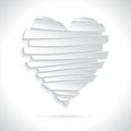 White broken heart in flat design style valentine s day greeting card vector illustration eps Stock Photo